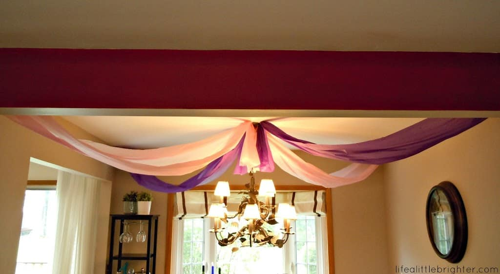 Birthday party diy decorations for Ceiling streamers