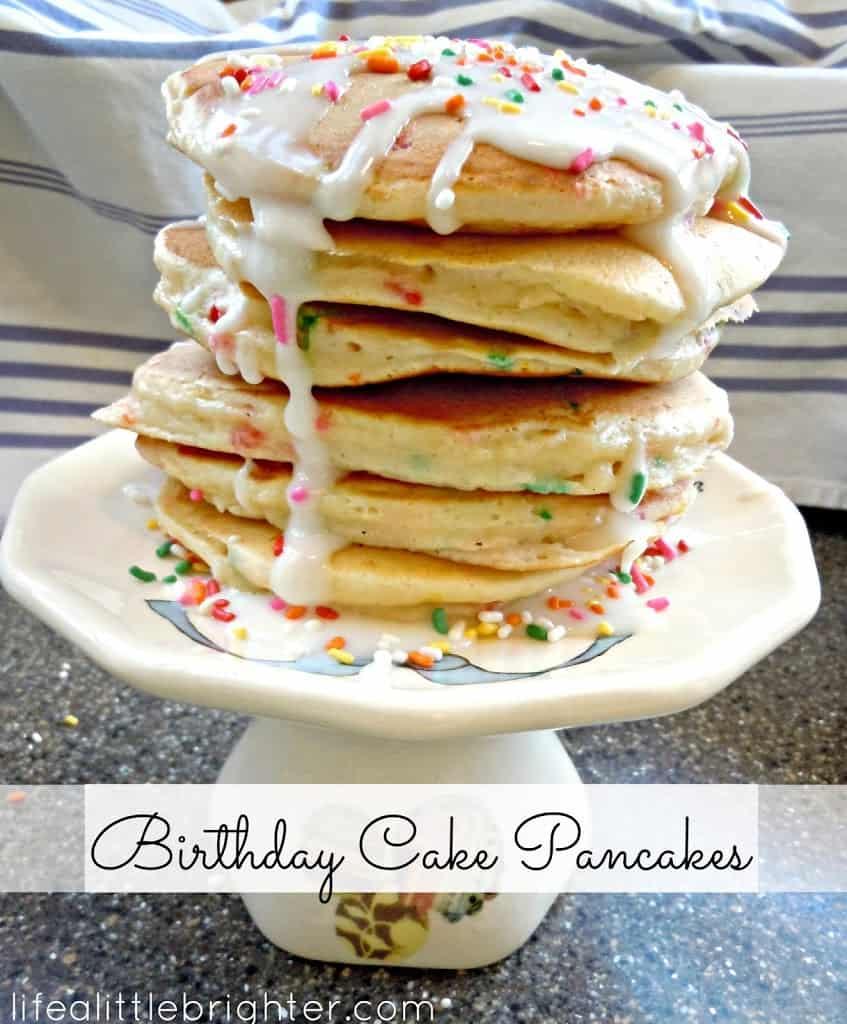 Pancake Tower Birthday Cake