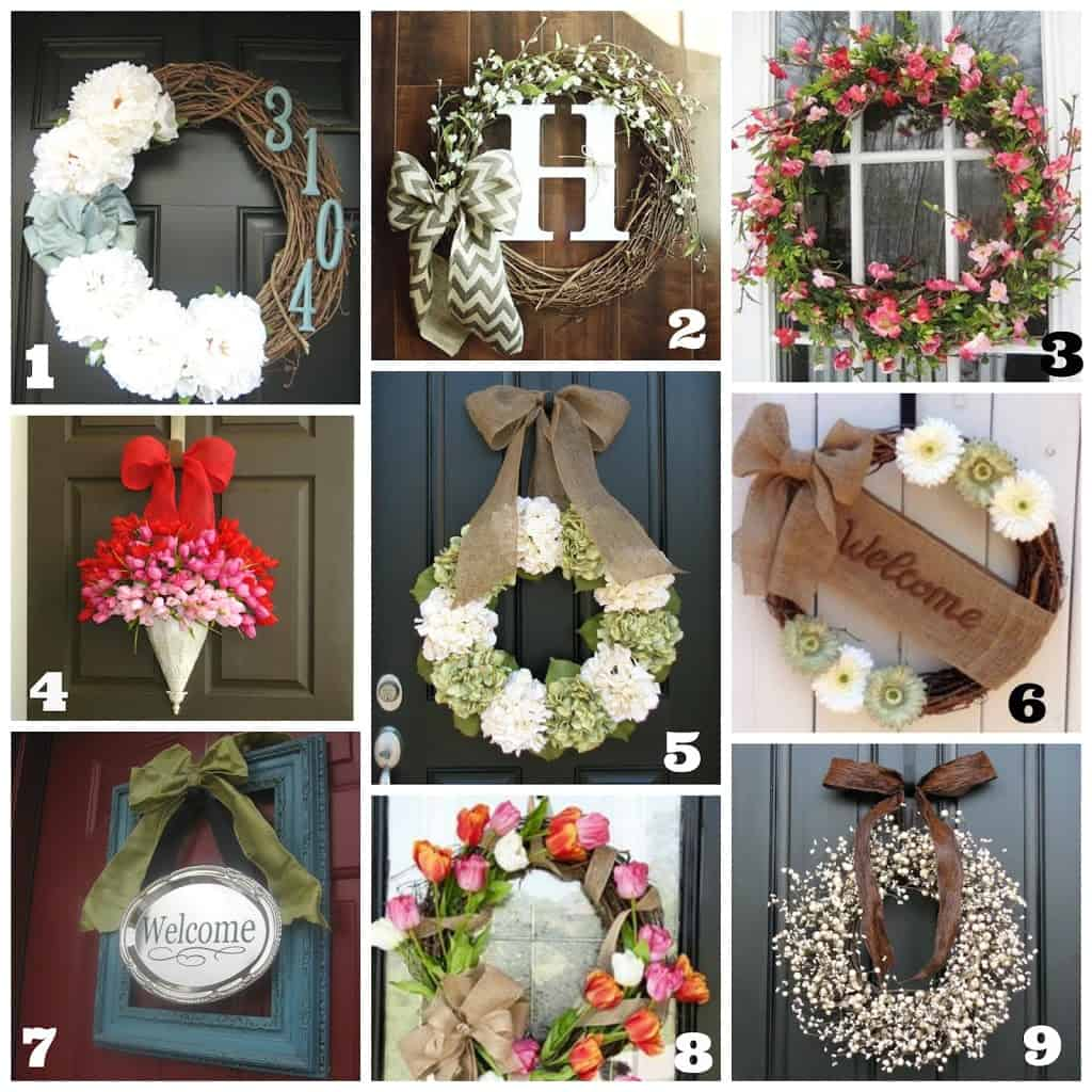 Spring Door Wreath Ideas Part - 21: DIY Front Door Wreaths {Spring/Summer}