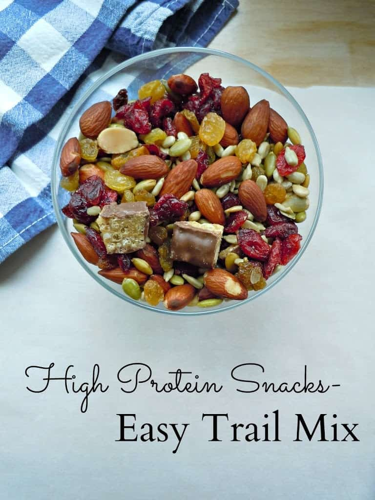 High Protein Snacks: Easy Trail Mix - Life a Little Brighter