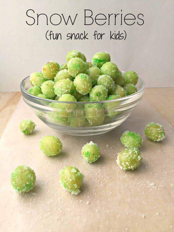Snow Berries-fun snack for kids