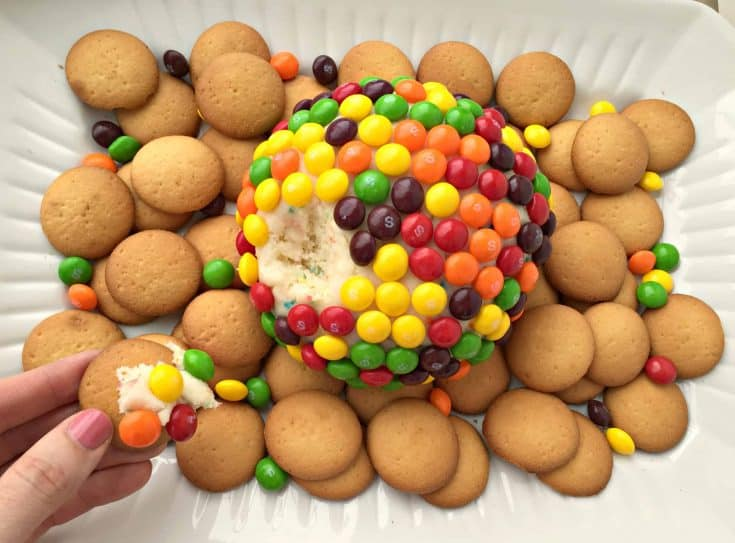 Skittles Funfetti Cream Cheese Ball