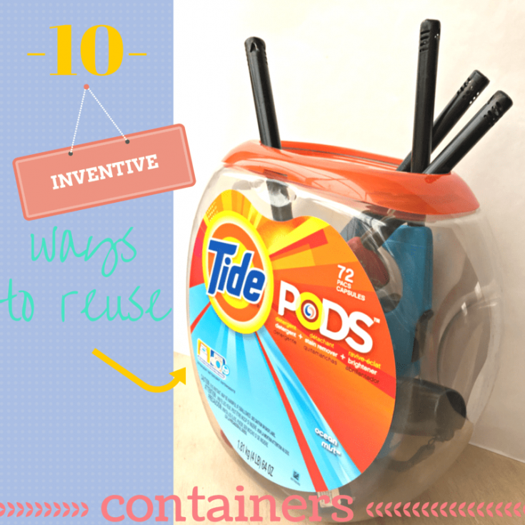 Reuse empty Tide Pod Containers