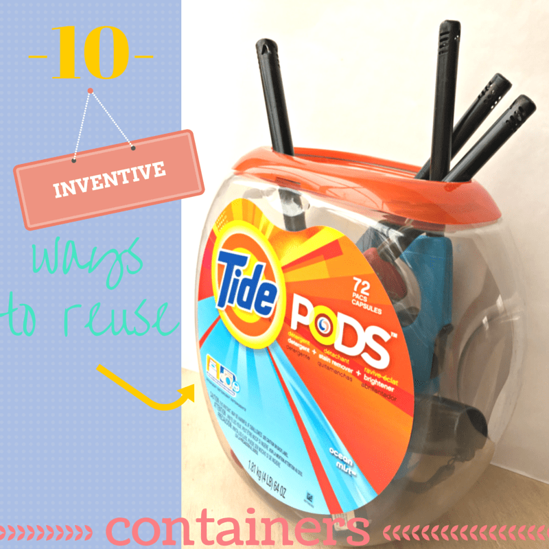reuse Tide Pods containers