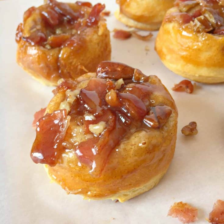 {Easy} Bacon Pecan Caramel Rolls