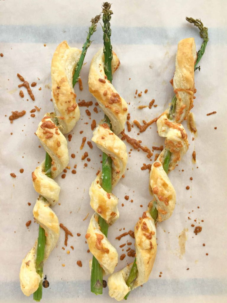 Parmesan Puff Pastry-Wrapped Asparagus — Life a Little Brighter