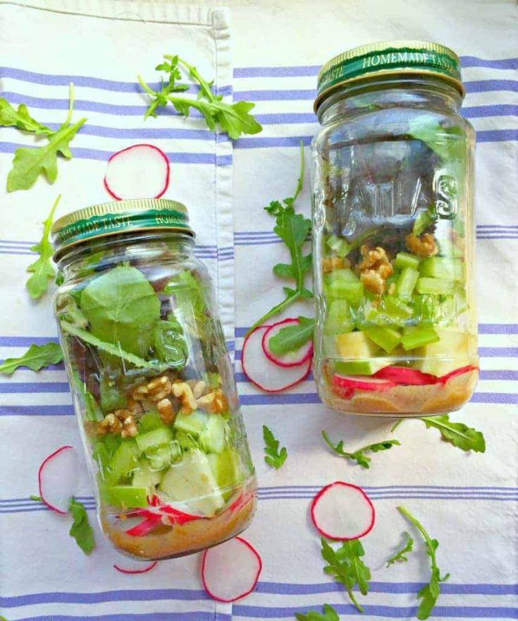 Spring Greens Mason Jar Salad