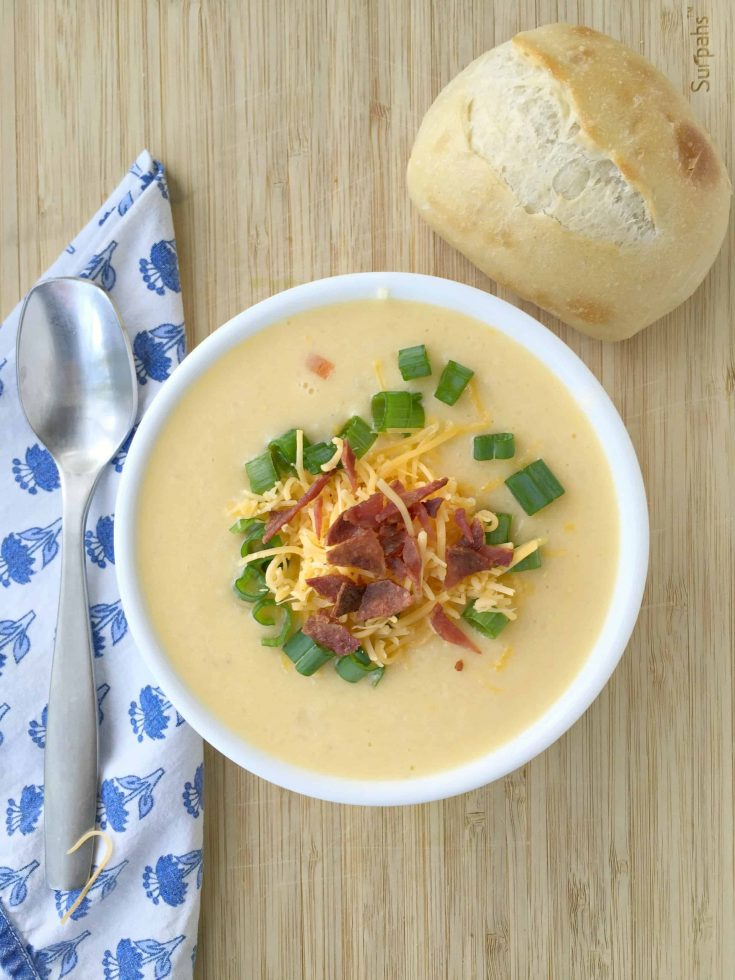 Loaded Cauliflower Cheese Soup