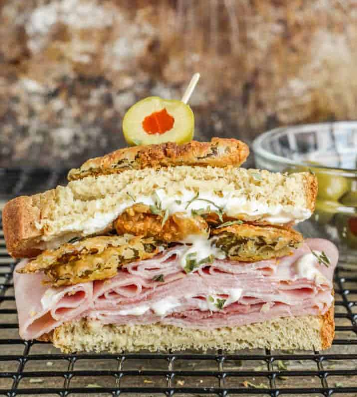 ham and pickle sandwich