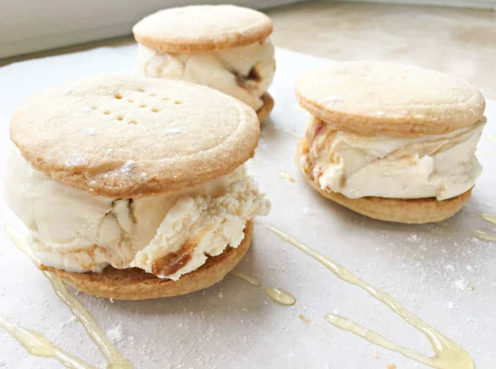 shortbread ice cream sandwiches
