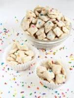 Movie Night Snacks: Cake Batter Puppy Chow