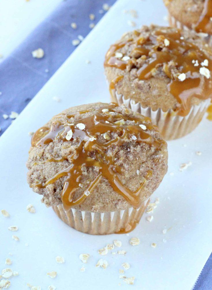 Salted Caramel Streusel Muffins