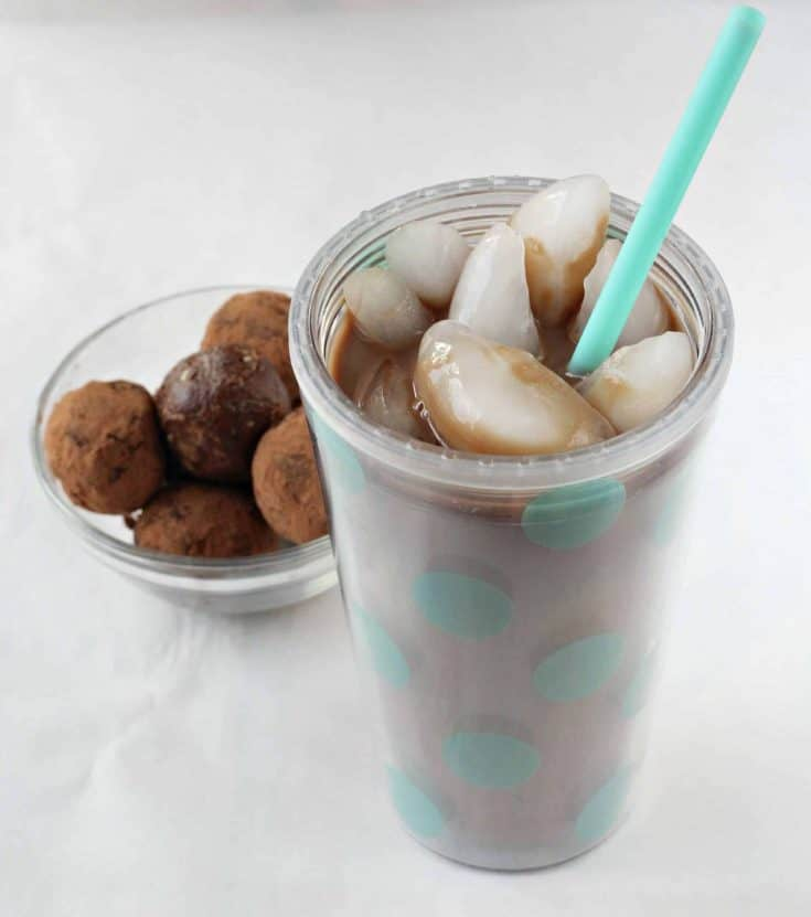 Relax & Refresh: Gevalia Iced Coffee with Almond Milk & Brownie Batter Protein Bites