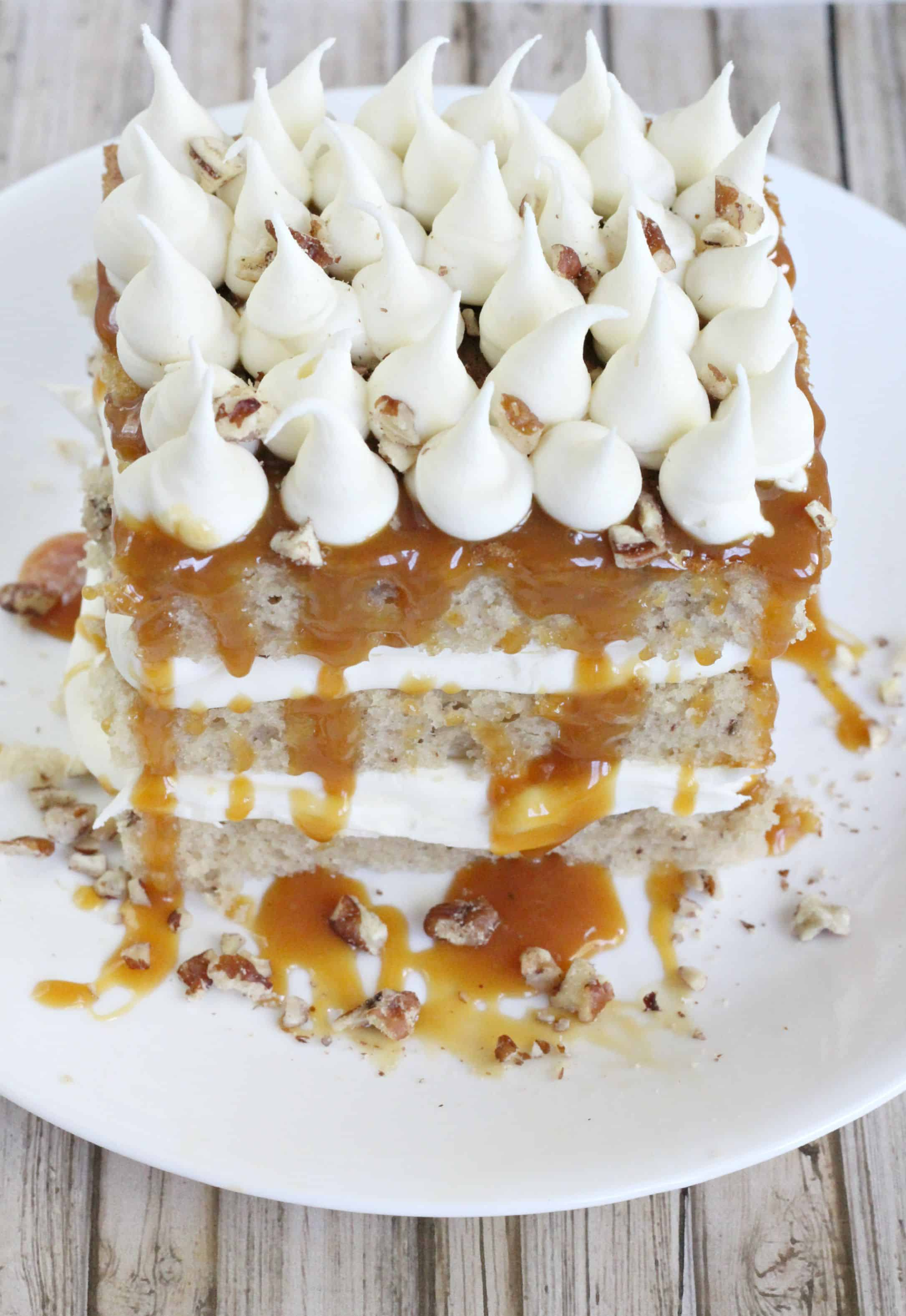 Pecan Tres Leches Cake - Life a Little Brighter