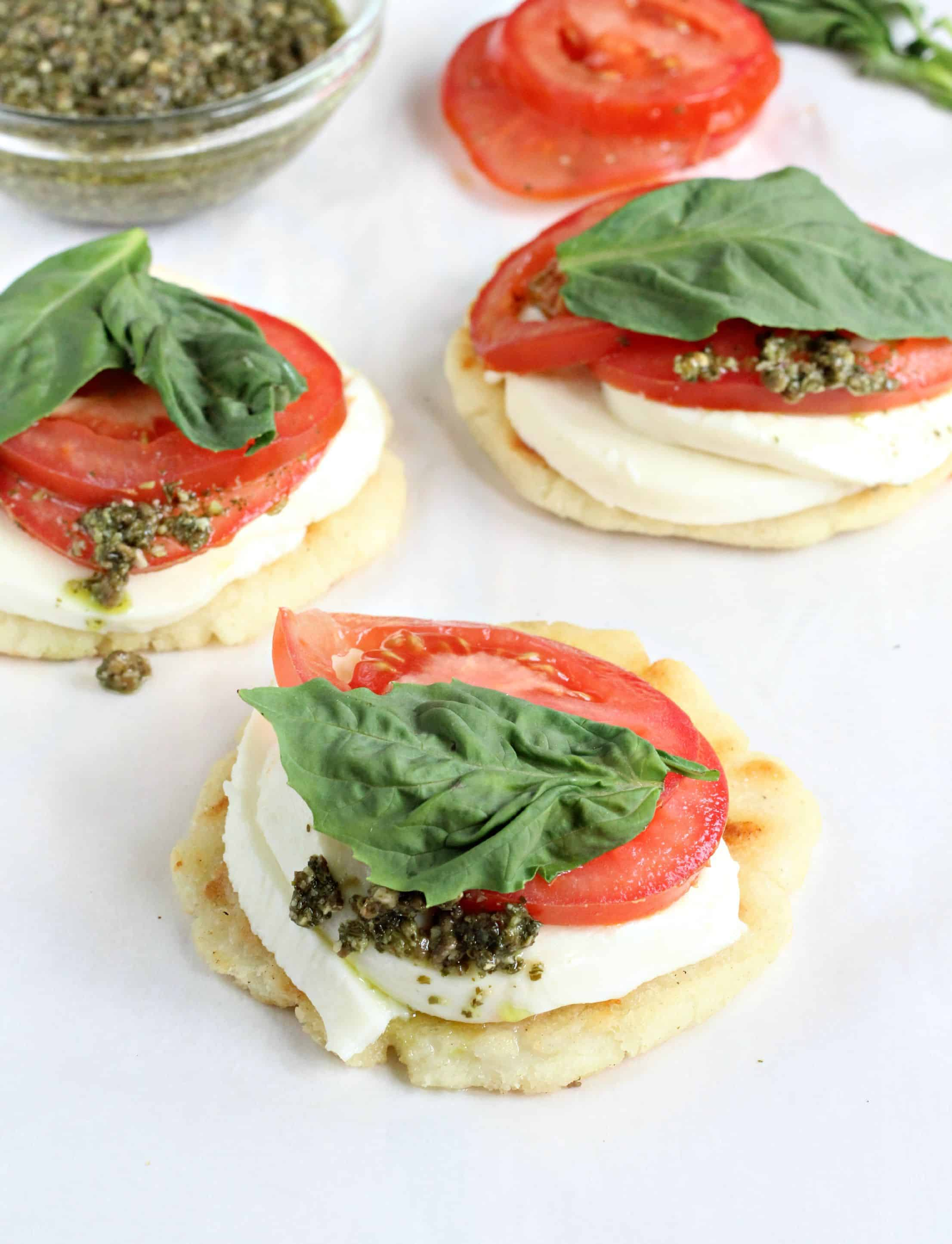 Caprese Arepa with Pesto