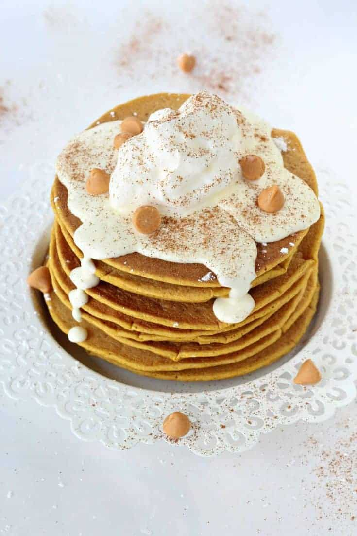 Protein-Packed Pumpkin Pancakes with Cream Cheese