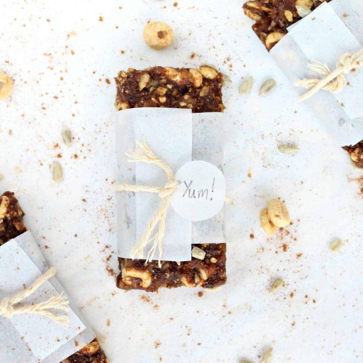 {No-Bake} Honey Nut Pumpkin Spice Bars