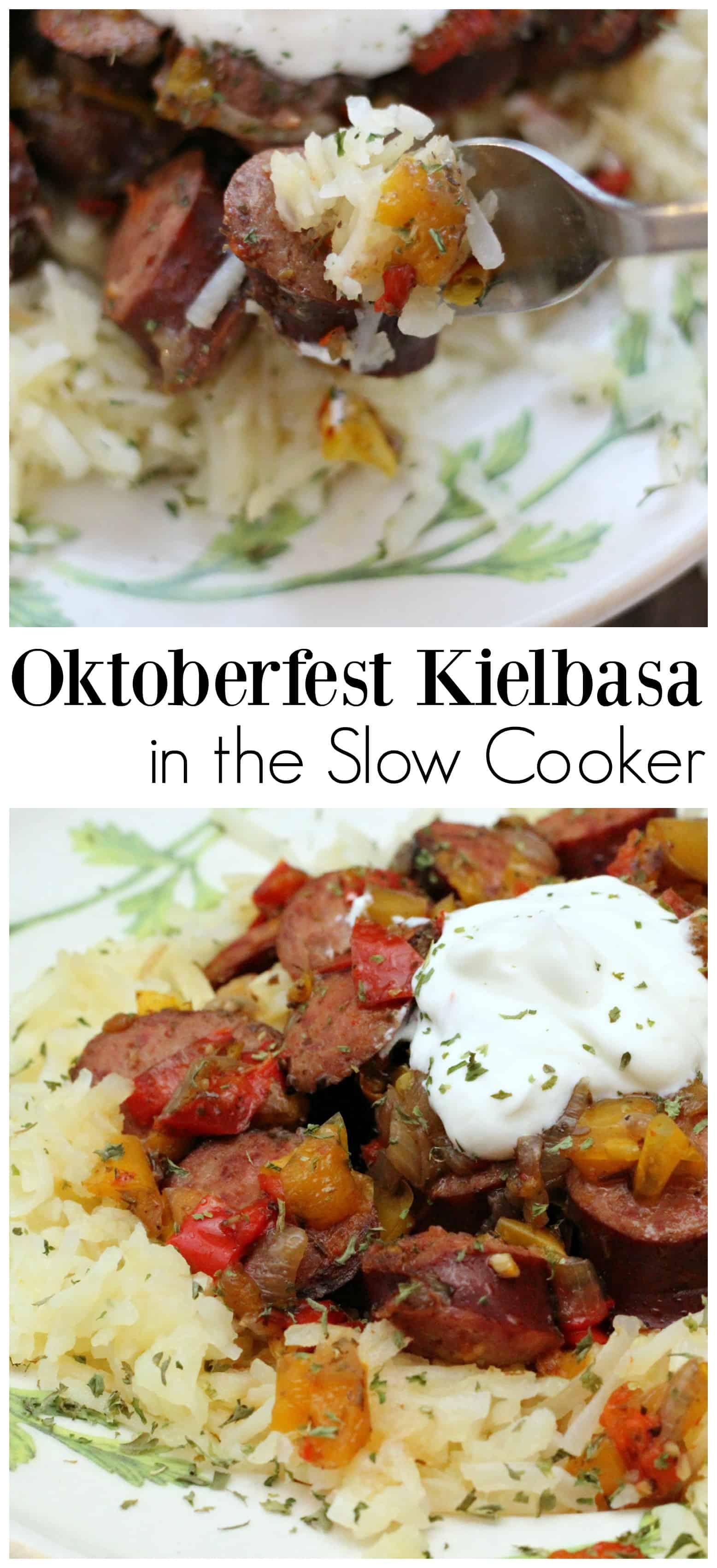 Slow Cooker Oktoberfest Kielbasa