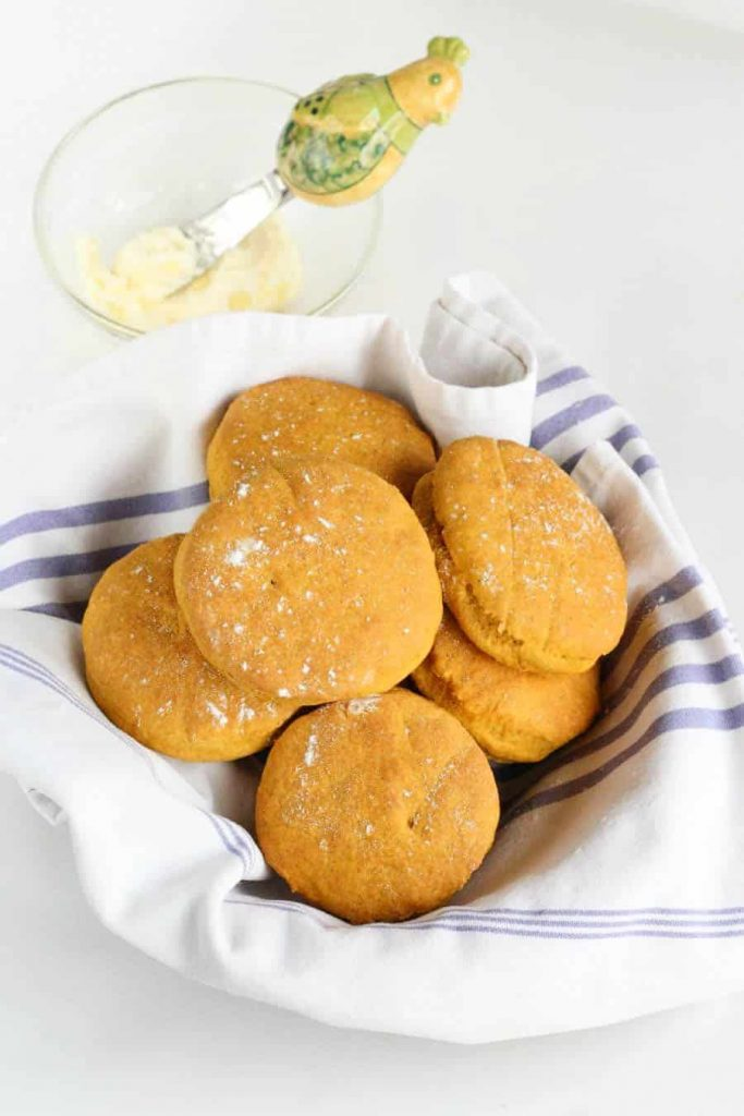 honey butter pumpkin biscuits