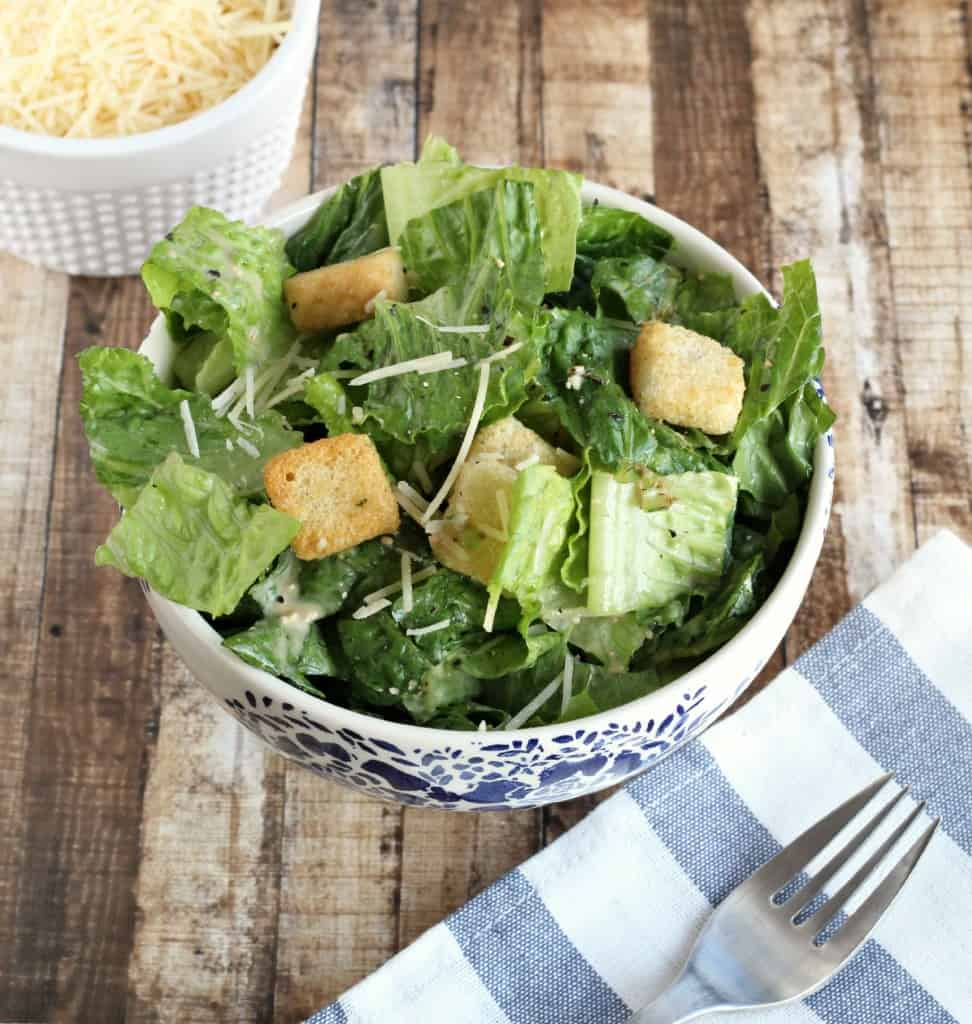 Skinny Caesar Salad - Life a Little Brighter