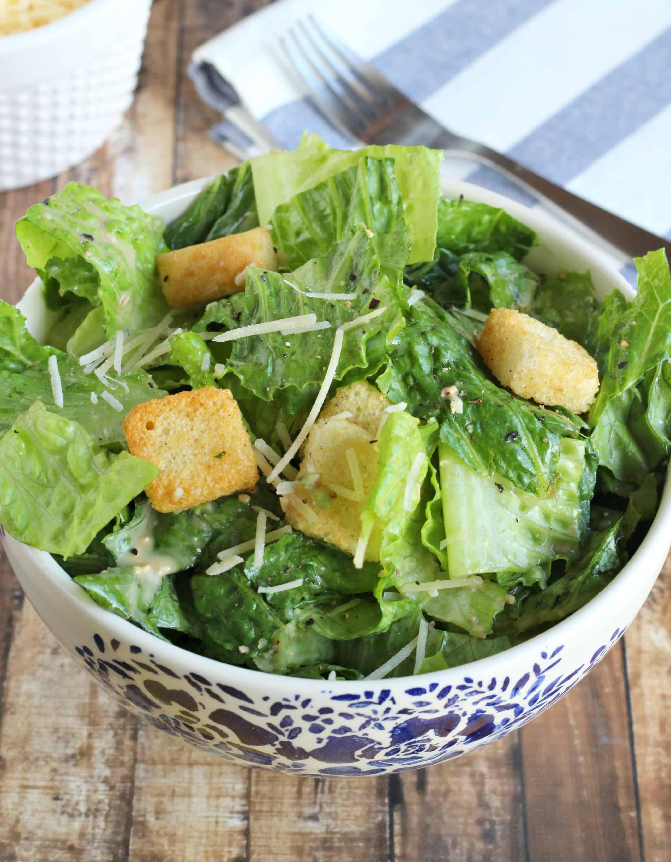 Skinny Caesar Dressing Recipe — Dishmaps