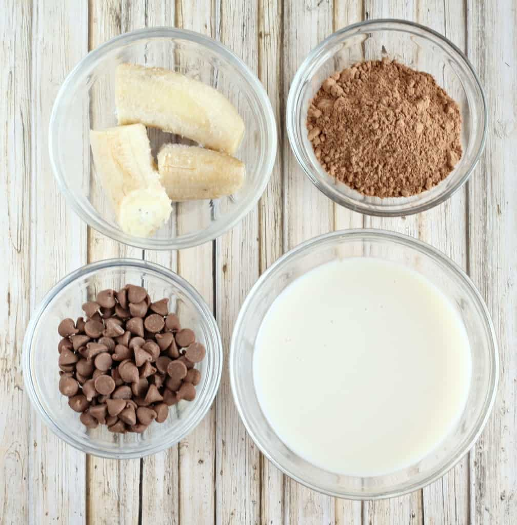 ingredients for dairy free chocolate ice cream