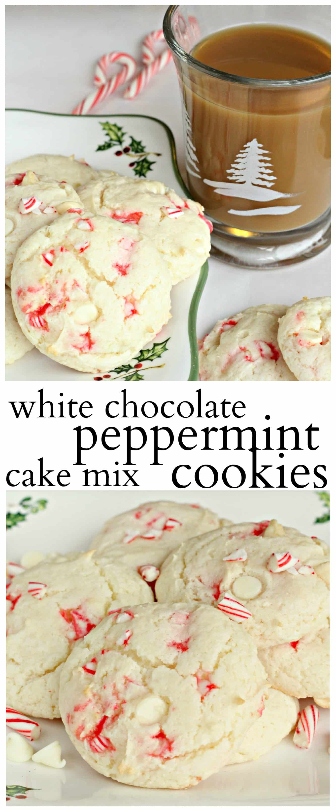 White Chocolate Peppermint Cake Mix Cookies - Life a Little Brighter