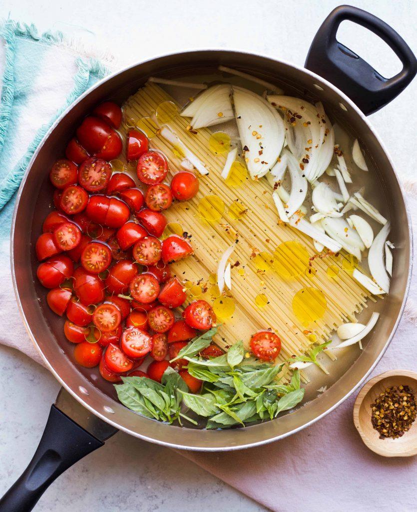 pasta ingredients not yet cooked