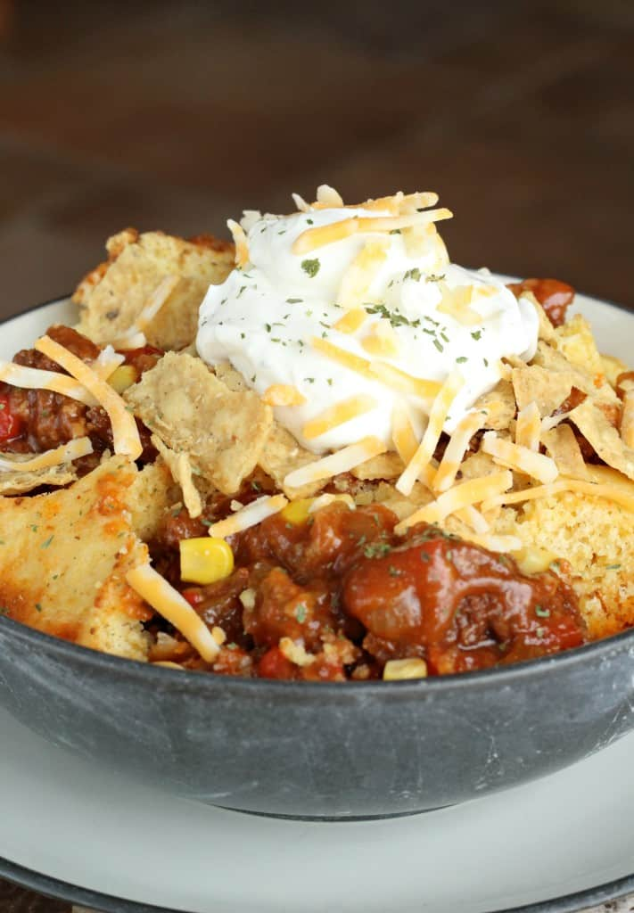 cornbread-topped chili