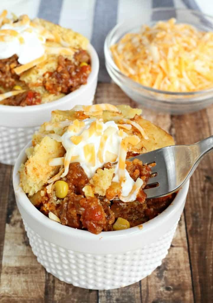cornbread-topped chili