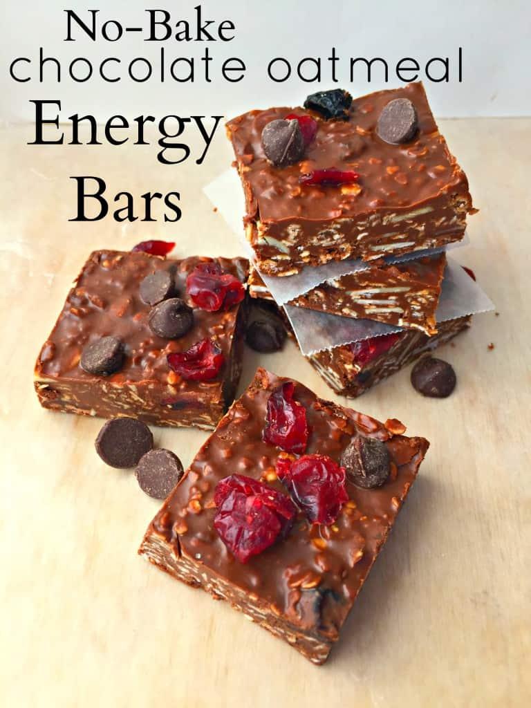 No-Bake Chocolate Oatmeal Energy Bars