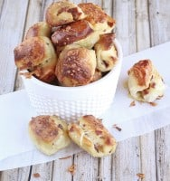 Bacon & Parmesan Pizza Dough Pretzel Bites