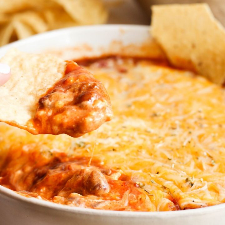 Chili Cheese Dip with Cream Cheese