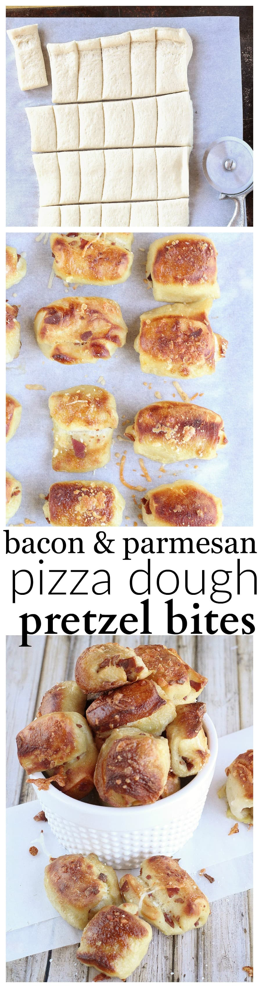 Bacon & Parmesan Pizza Dough Pretzel Bites - Life a Little ...