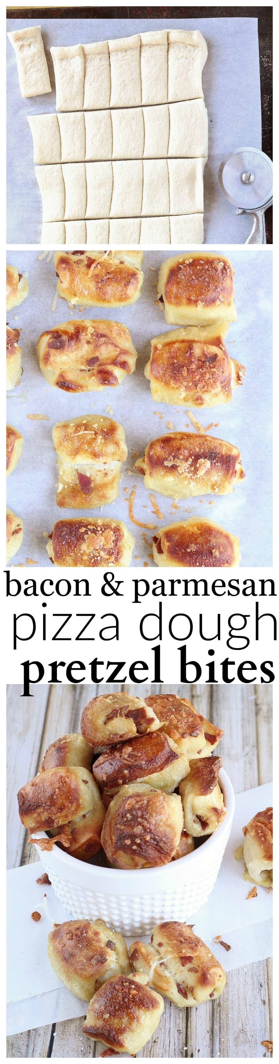 Bacon & Parmesan Pizza Dough Pretzel Bites - Life a Little Brighter