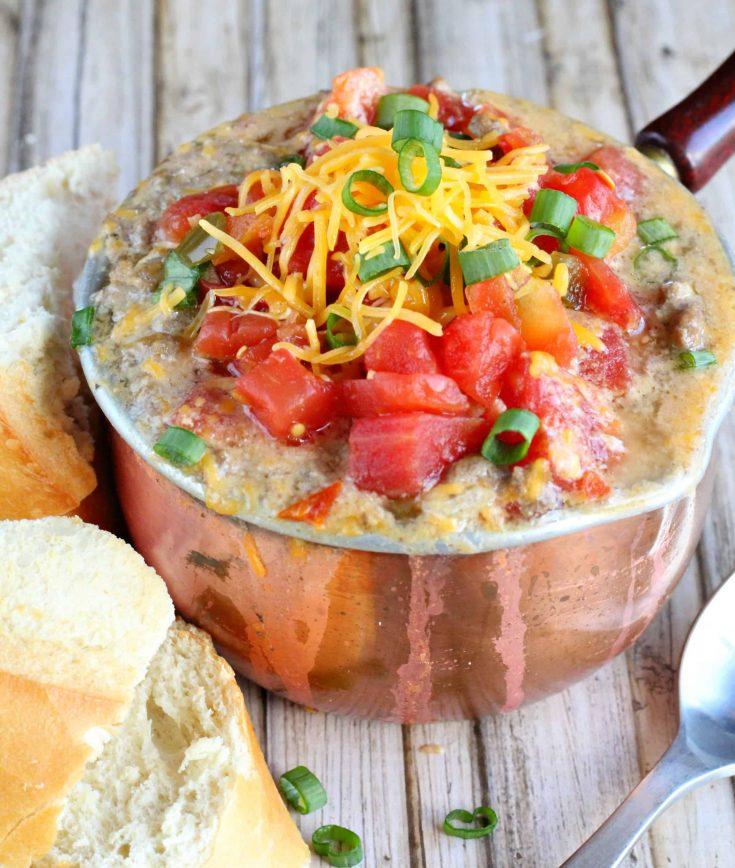 Fiesta Cheeseburger Soup