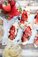 Balsamic Strawberry & Goat Cheese Crostini
