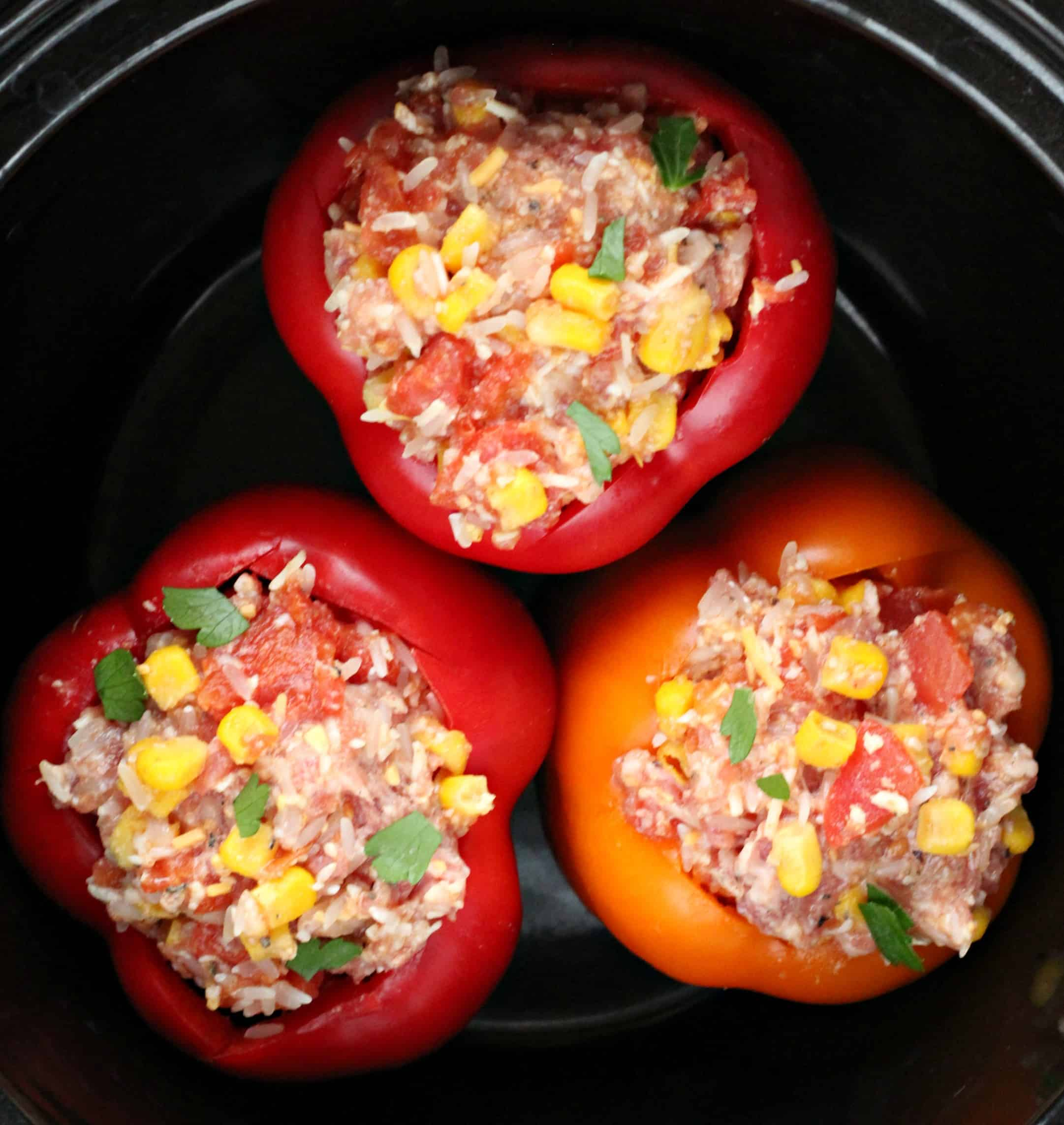 Southwestern Slow Cooker Stuffed Peppers - Life a Little