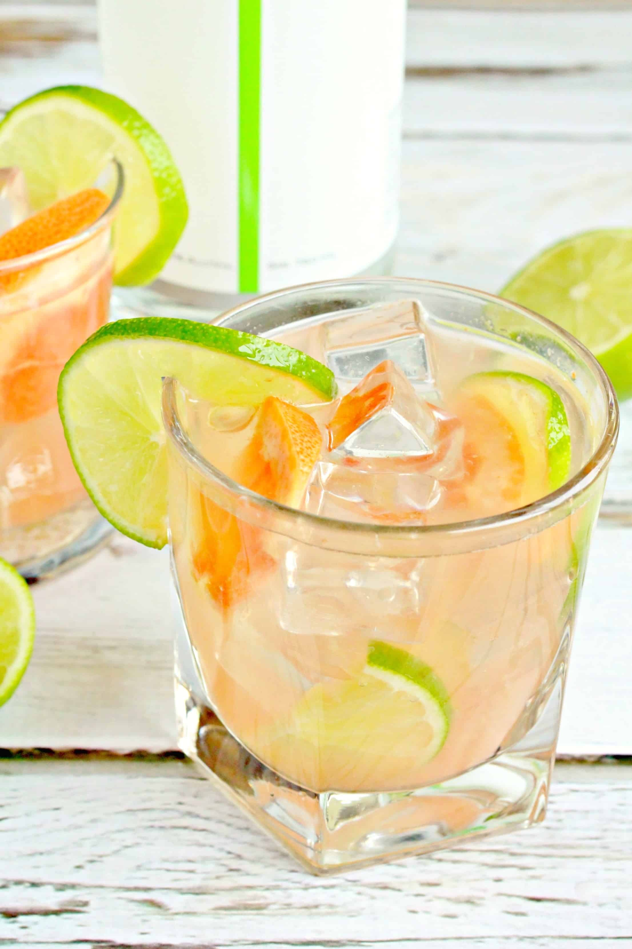 ... you are looking for a crisp cocktail infused with lime and grapefruit