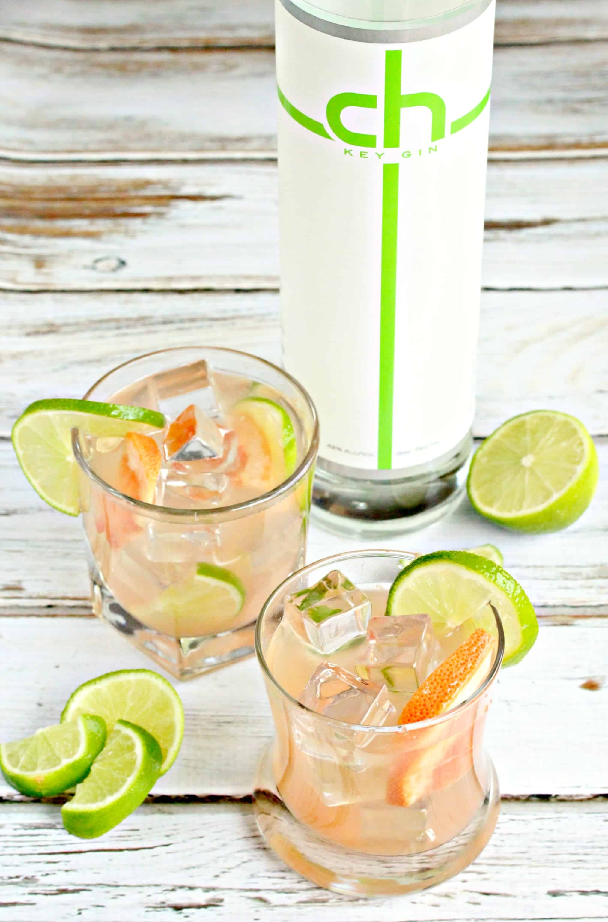 Lime Grapefruit Gin Cocktail - Life a Little Brighter