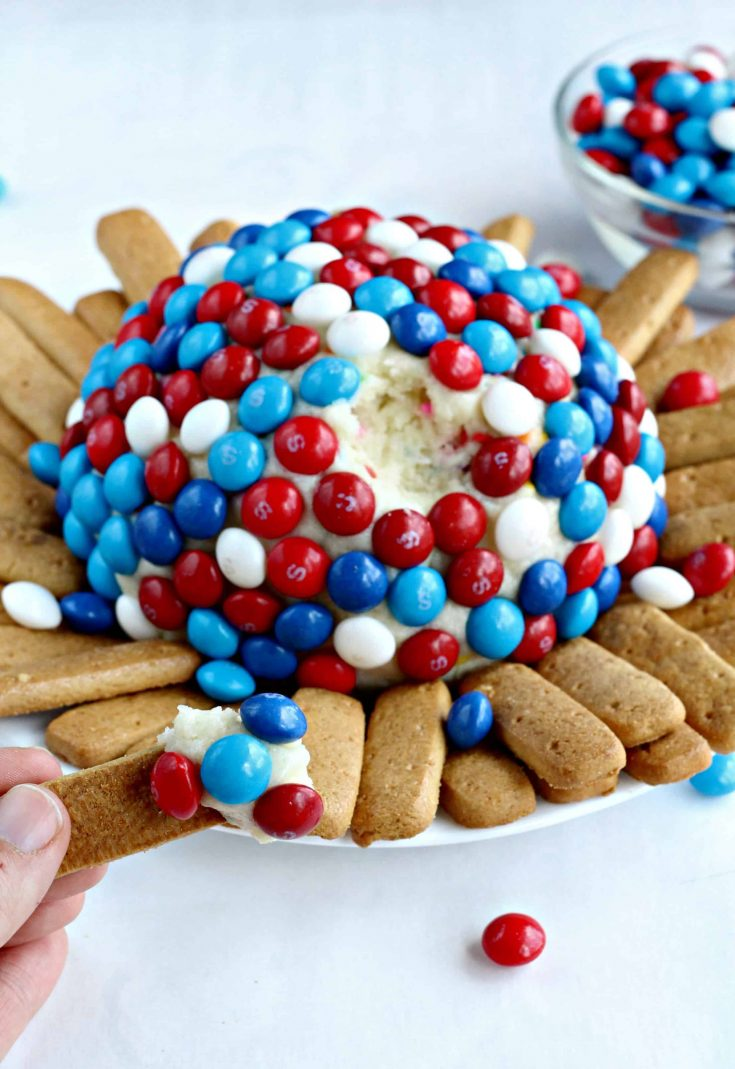 Skittles America Mix Cream Cheese Ball