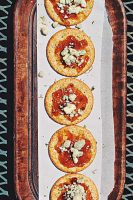 Bleu Cheese & Fig Jam Topped Crackers