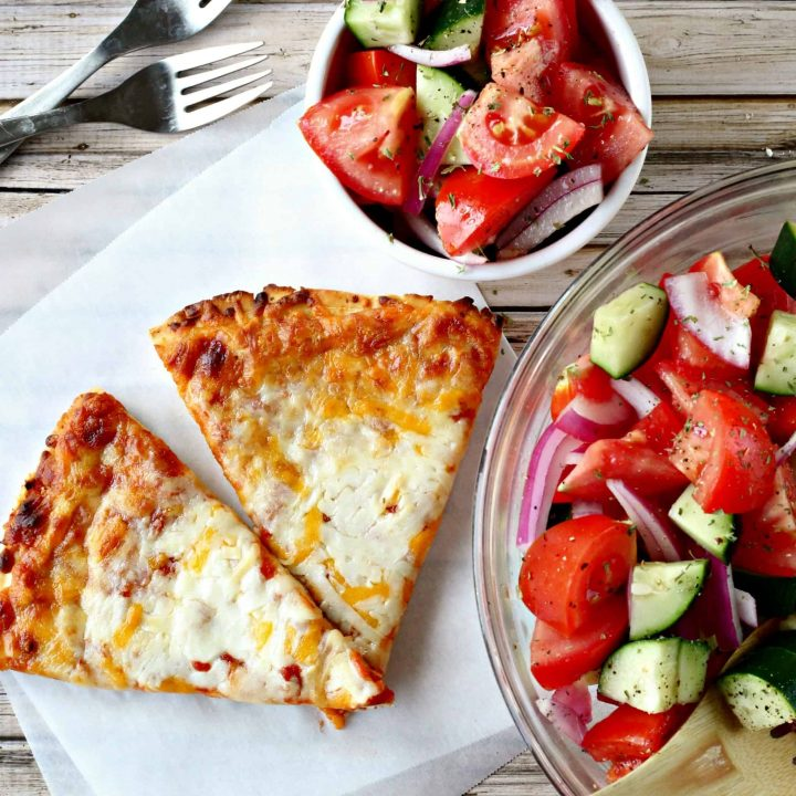 Summer Meal Ideas: Tomato, Cucumber, and Red Onion Salad