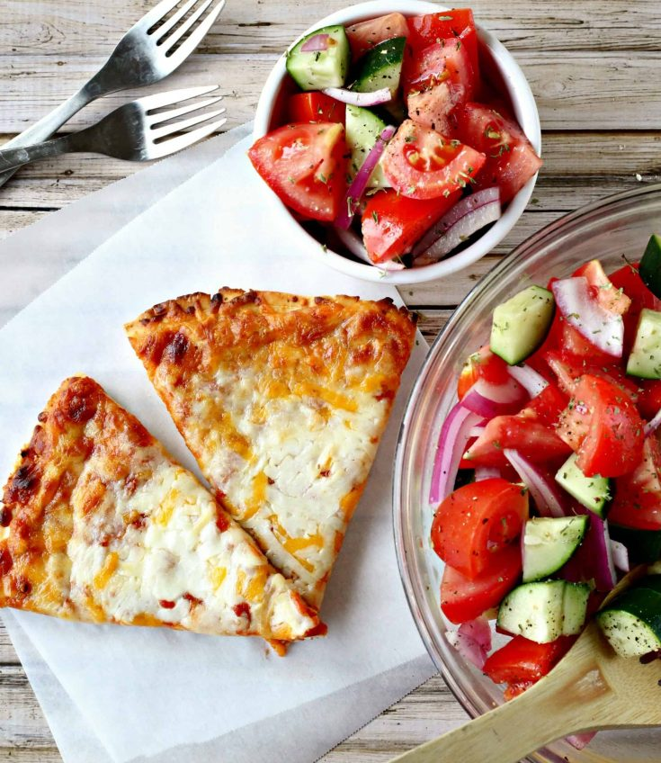 Easy Summer Meal Idea {Tomato, Cucumber, & Onion Salad}