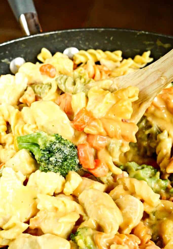 Cheesy Chicken Rotel Pasta