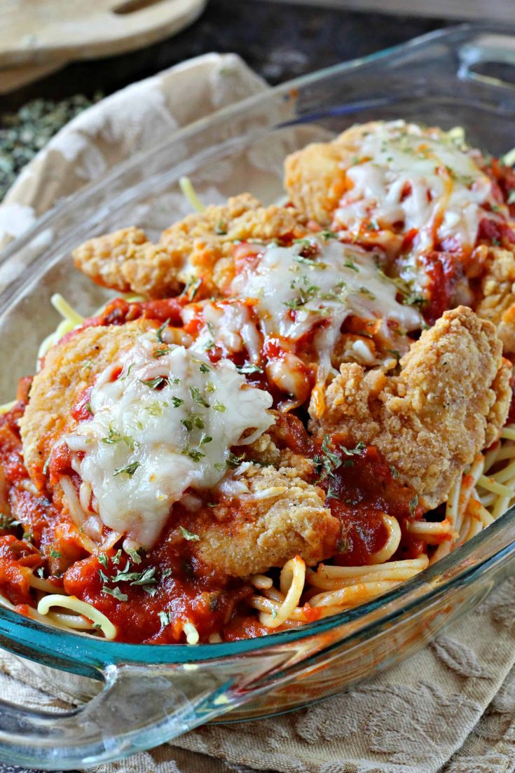 Chicken Parmesan with Frozen Breaded Chicken Tenders
