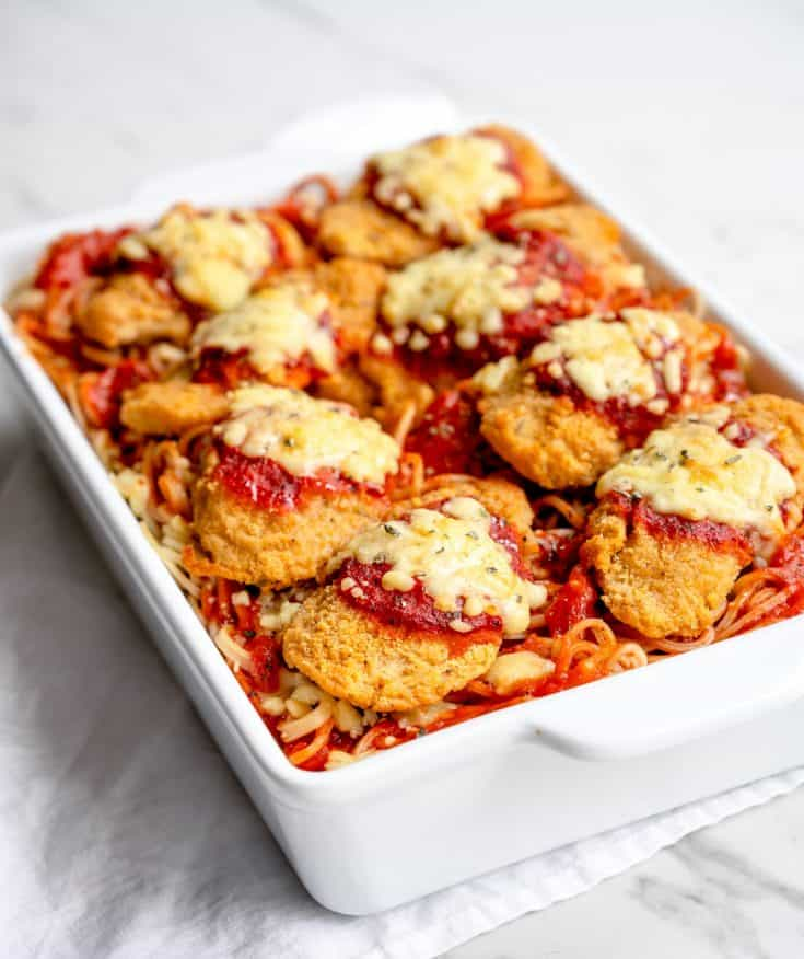 Chicken Parmesan with Frozen Breaded Chicken Tenders