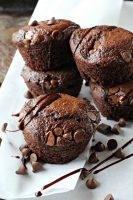 Double Chocolate Greek Yogurt Muffins