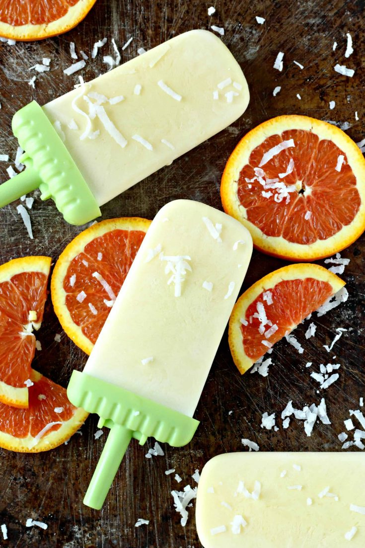 Easy Orange Cream Popsicles