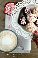 Candy Cane Cookie Dough Truffles